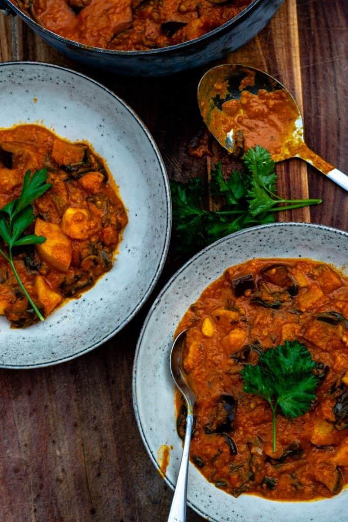 eggplant and potato curry