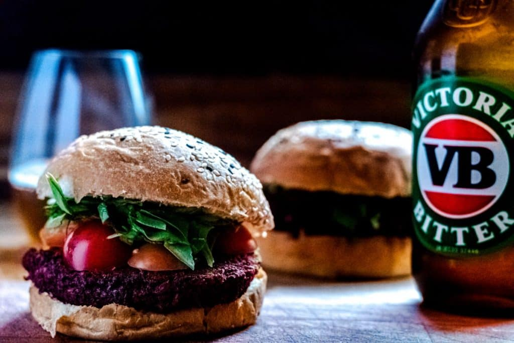 Black bean & Beetroot Burger