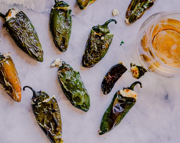 Jalapeno poppers served with beer