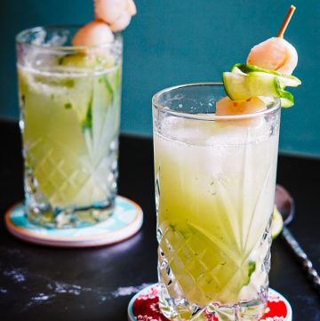lychee cucumber cocktail